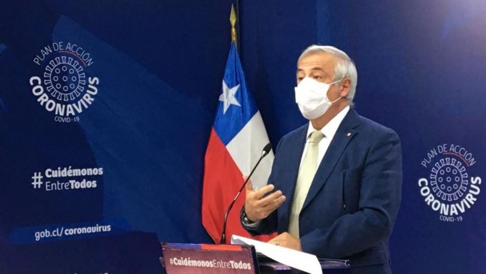 Ministro Mañalich explicó criterios para calificar a un paciente Covid-19 como