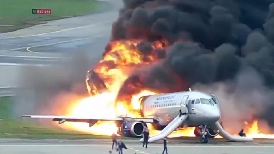 Autoridades rusas revelan video de accidente aéreo ocurrido en mayo de 2019