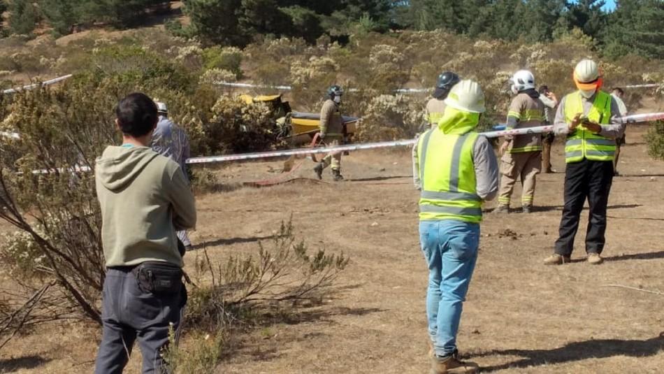 Reportan caída de aeronave que combatía incendio forestal en el Maule