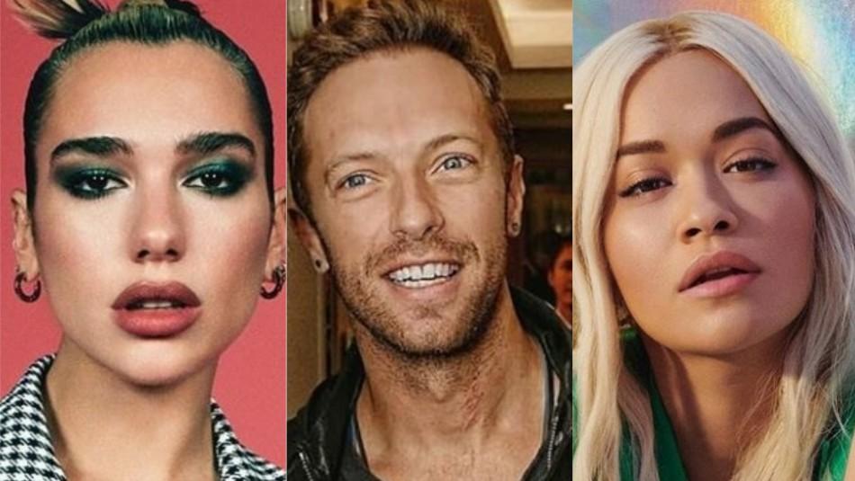 Dua Lipa, Chris Martin y otros artistas se unen en canción benéfica por crisis del coronavirus