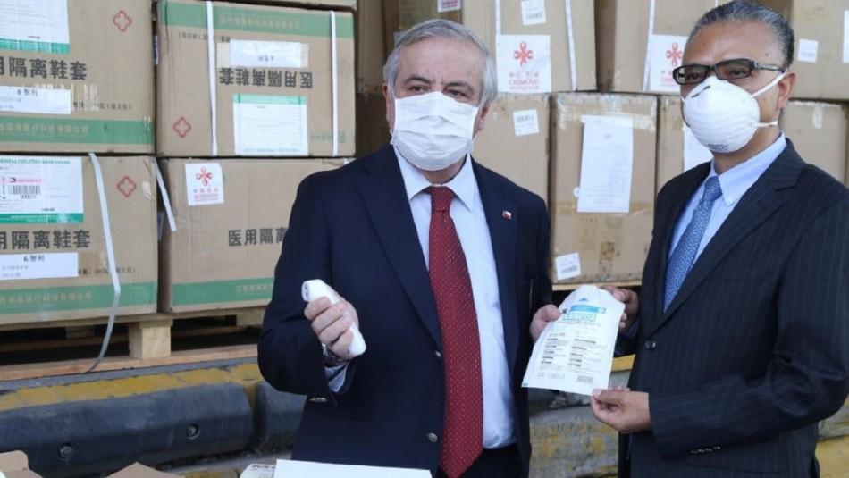 Gobierno recibe donación de China que incluye la entrega de ventiladores mecánicos