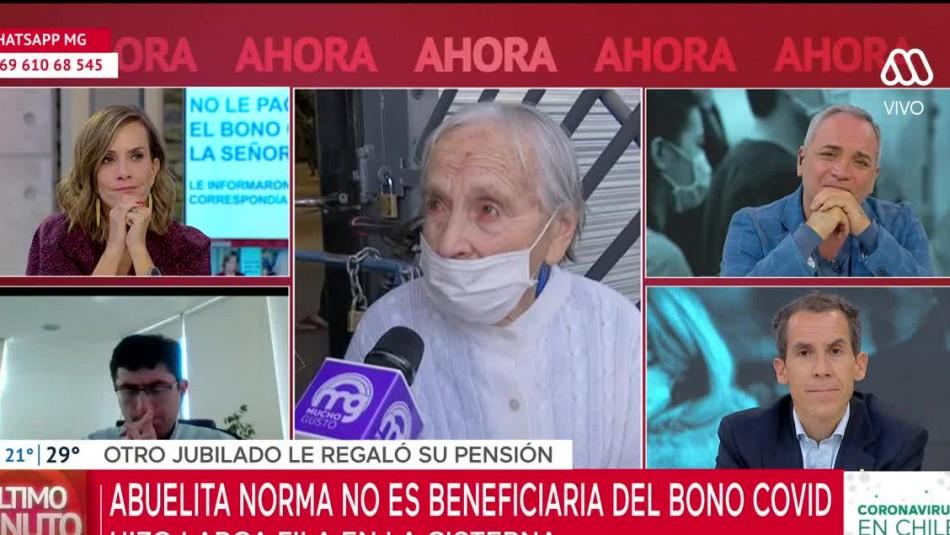 Abuela de 90 años recibió bello gesto durante despacho en vivo de Mucho Gusto: Desconocido le regaló su pensión