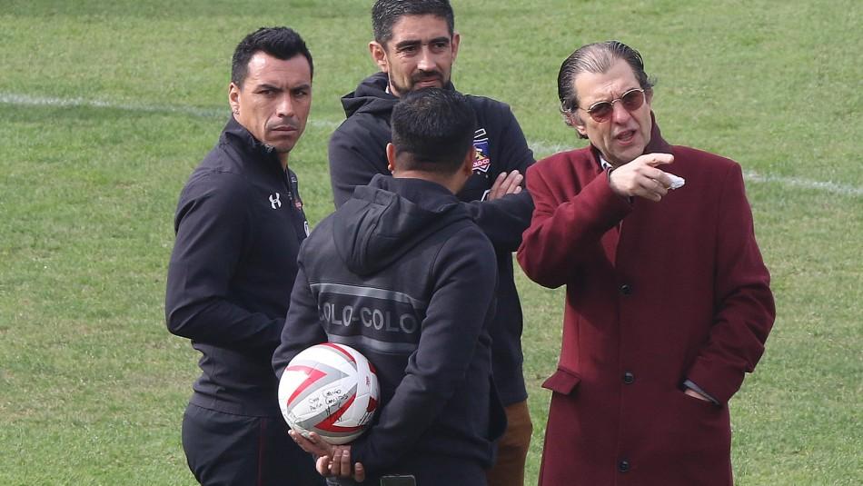 Esteban Paredes dolido con la dirigencia de Colo Colo.