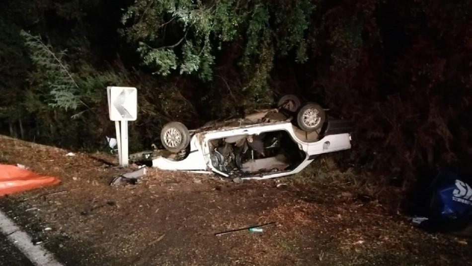 Cuatro personas fallecieron tras accidente de tránsito en la comuna de Lautaro