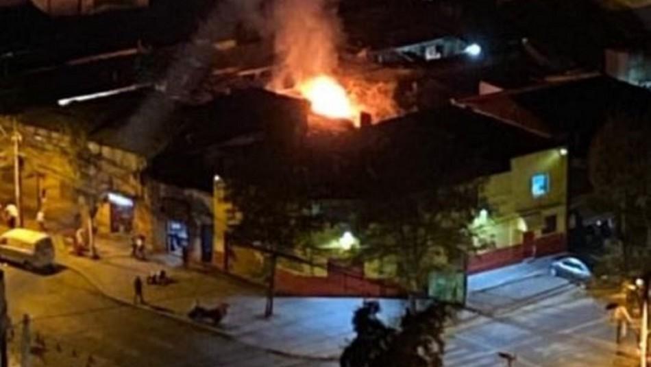 Incendio se produjo en cité de la comuna de Estación Central