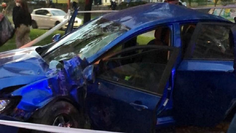 Violento asalto termina en accidente tras persecución en la comuna de Providencia