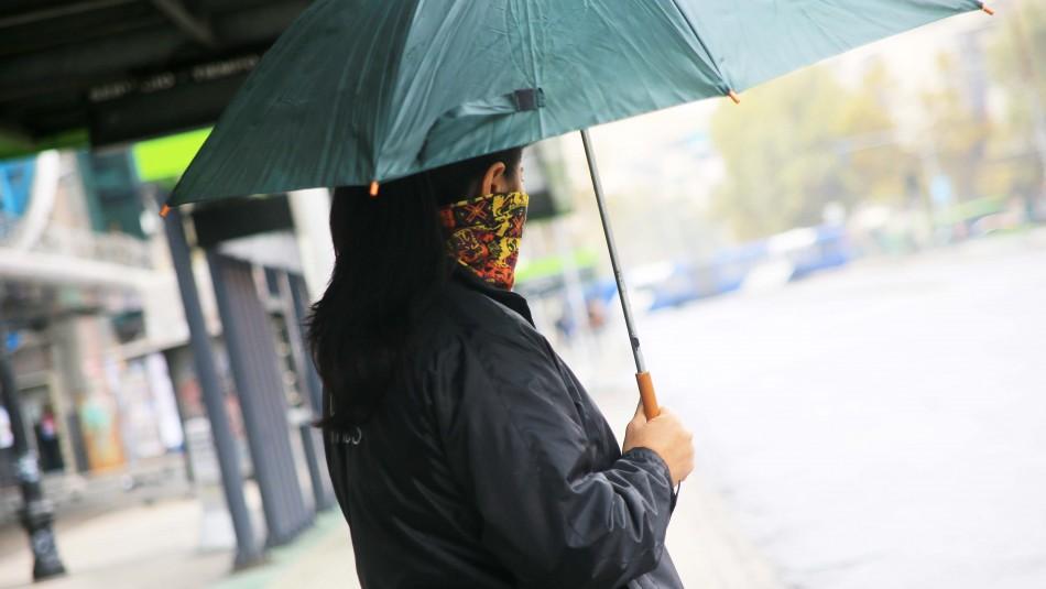 Anuncian precipitaciones en Santiago para lunes y martes
