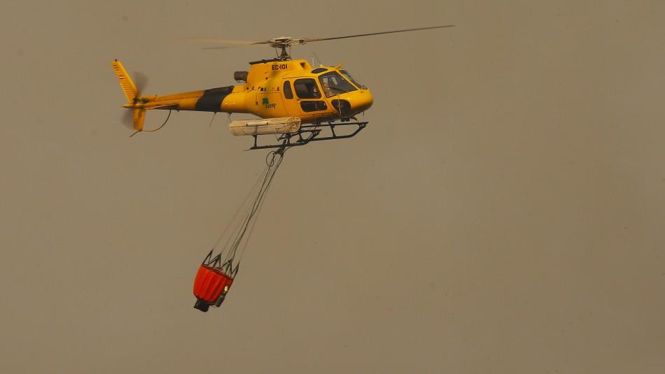 FNE acusa de colusión a tres empresas de helicópteros para el combate de incendios forestales