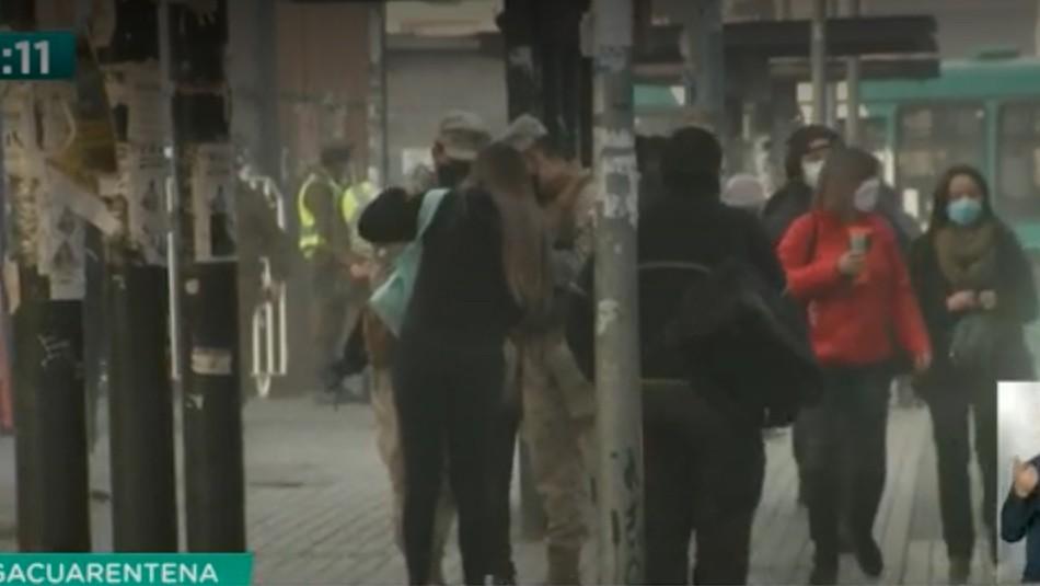 Al menos nueve detenidos por no portar salvoconducto en primer día hábil de cuarentena en Maipú