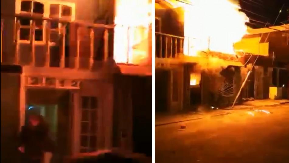 Soldado salva a adulto mayor mientras se incendiaba su vivienda en Calama