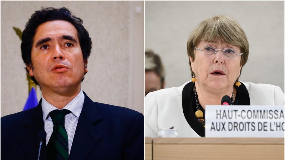 Briones y críticas de Bachelet a canastas de alimentos: