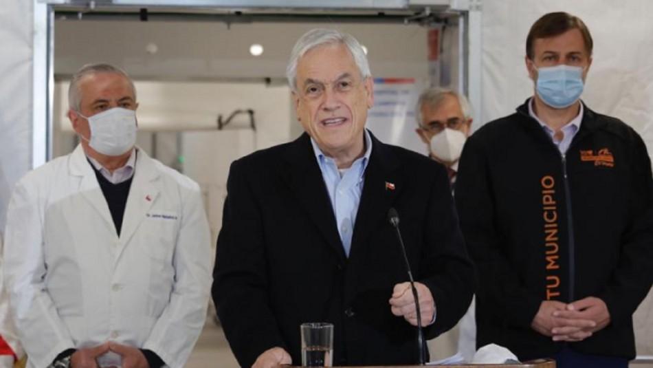 Hospital Modular Sótero del Río: Piñera visitó recinto que agregará 100 nuevas camas a Red Hospitalaria