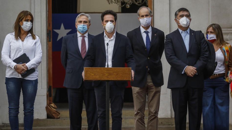 Chile Vamos pone a disposición del Gobierno un equipo técnico para lograr un acuerdo nacional