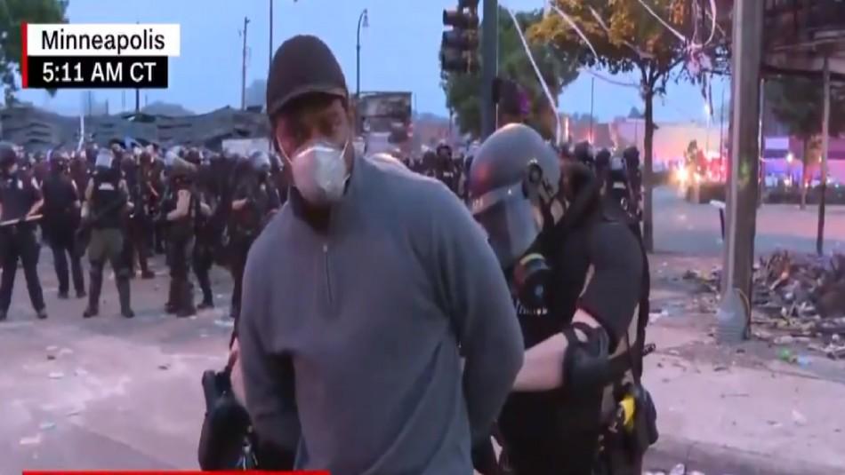 Periodistas de CNN son arrestados mientras transmitían en vivo las violentas protestas en Minneapolis