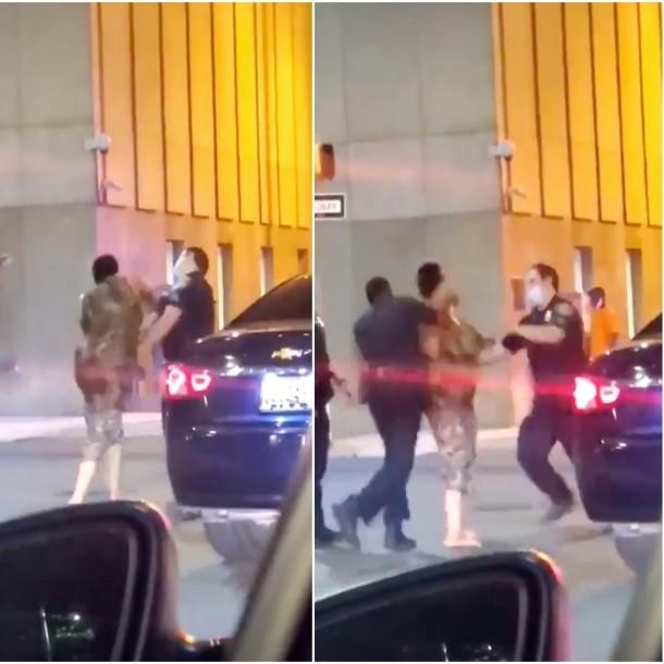 ¿Qué pasó con la mujer que golpeó a un policía y otro la noqueó en Estados Unidos?