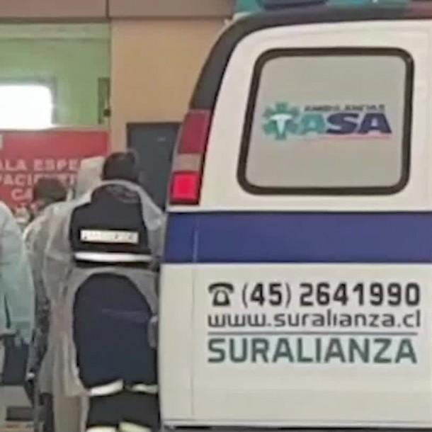 Paciente con coronavirus es trasladado de Santiago a Temuco: Necesitaba ventilador mecánico