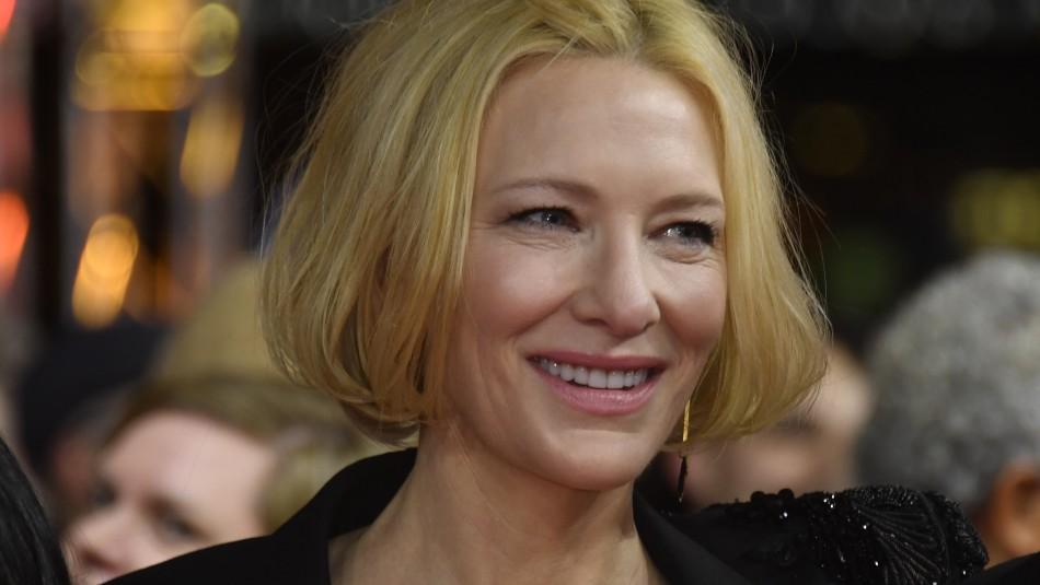 Actriz Cate Blanchett sufrió accidente con una motosierra: Quedó con corte en la cabeza