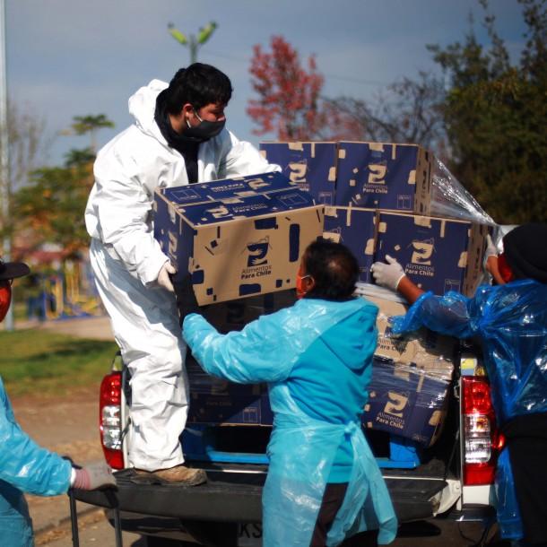 Gobierno informa que se han entregado más de 710 mil cajas de alimentos en Chile