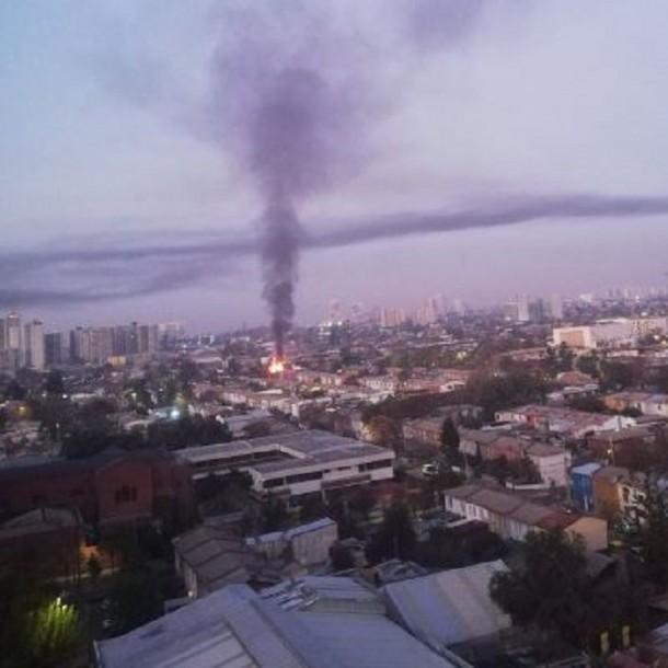 Incendio afecta a vivienda en la comuna de Independencia