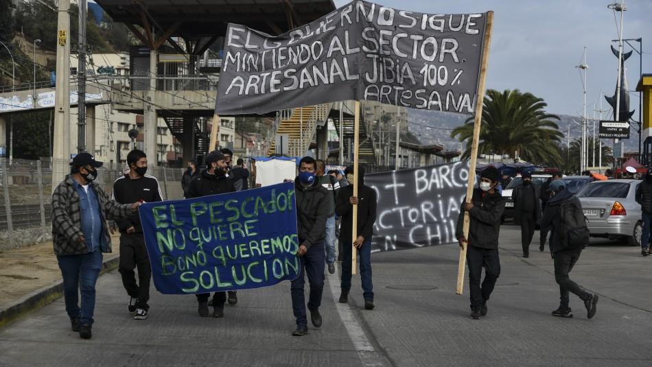 Protestas de pescadores por Ley de la Jibia.