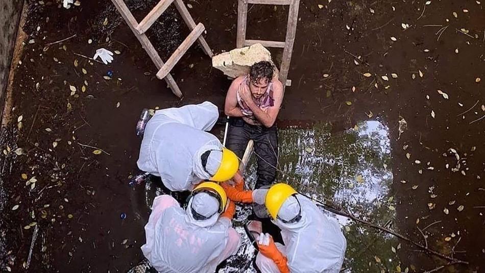 Rescatan a hombre que pasó seis días atrapado en un pozo en la isla de Bali