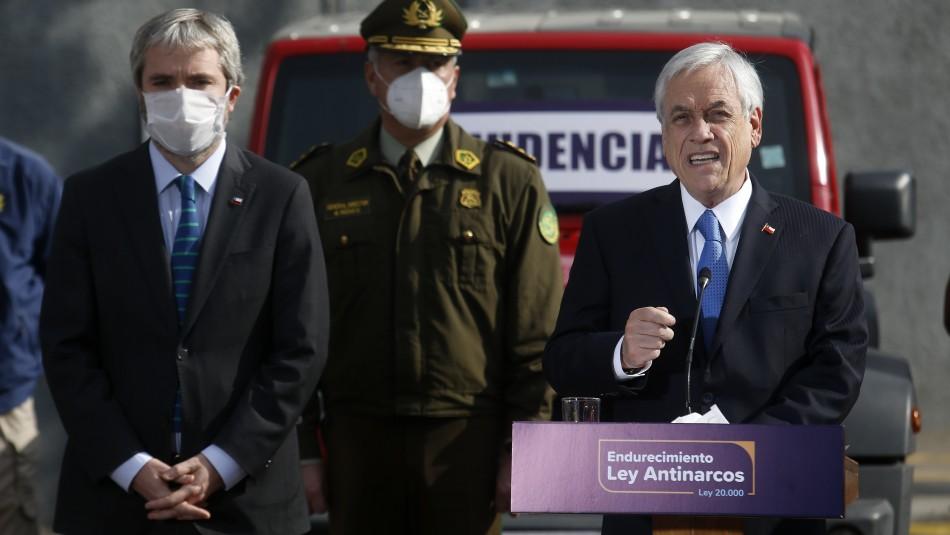 Piñera endurecerá penas contra el narcotrafico: