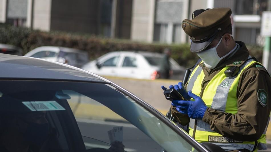 Atropellan a carabinero que fiscalizaba cumplimiento de cuarentena en Santiago