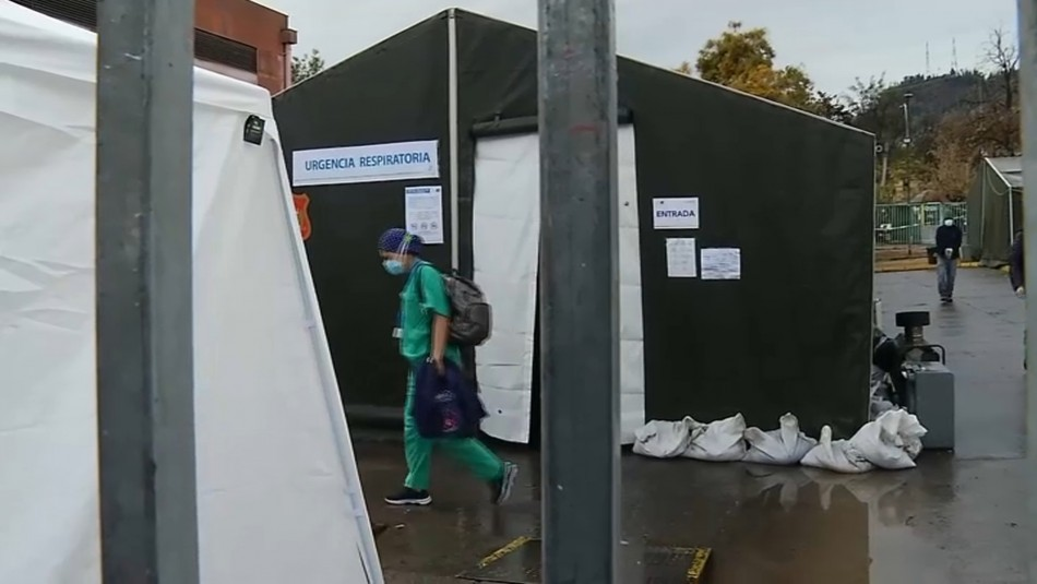 Lluvia afecta carpa del Hospital San José y deben reubicar 10 pacientes sospechosos de coronavirus