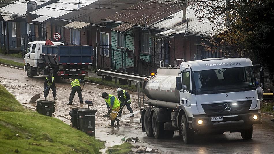 44 mil clientes sin luz y más de 100 casas dañadas deja sistema frontal en zona centro sur del país