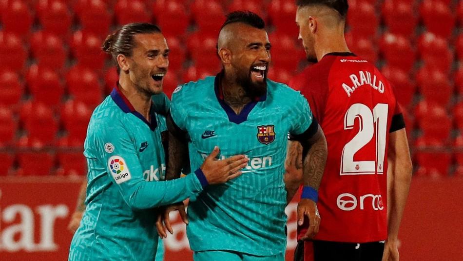 Se demoró solo 64 segundos: Arturo Vidal anota el primer gol de Barcelona ante Mallorca en el regreso de La Liga