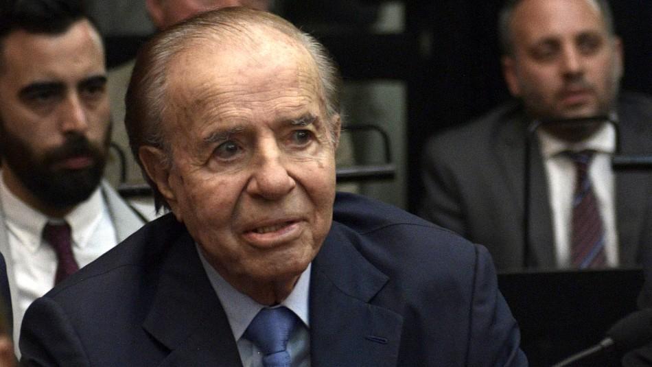 Hospitalizan a expresidente argentino Carlos Menem: Se le practicó examen para detectar coronavirus