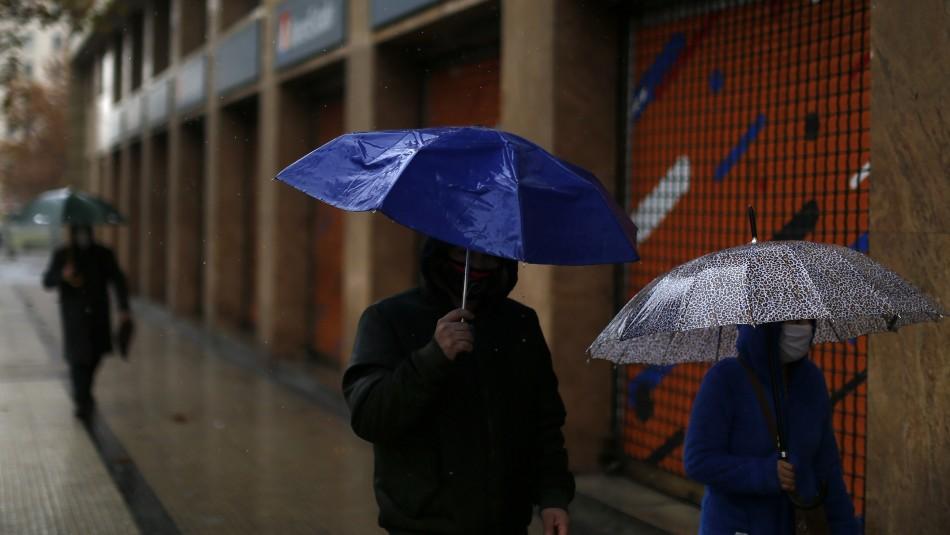 Emiten avisos meteorológicos por precipitaciones y vientos para la zona central del país