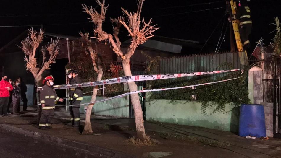 Incendio dejó a un hombre fallecido en la comuna de Peñalolén