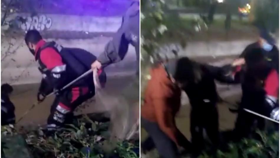 Detienen a hombre en estado de ebriedad que cayó al canal San Carlos en pleno toque de queda