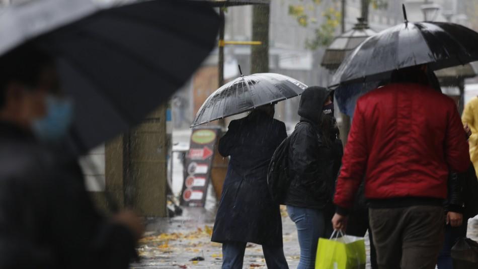 Fuertes lluvias afectarán a la zona central del país desde la madrugada de este miércoles
