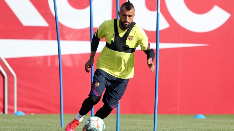 Arturo Vidal asoma de titular en Barcelona.