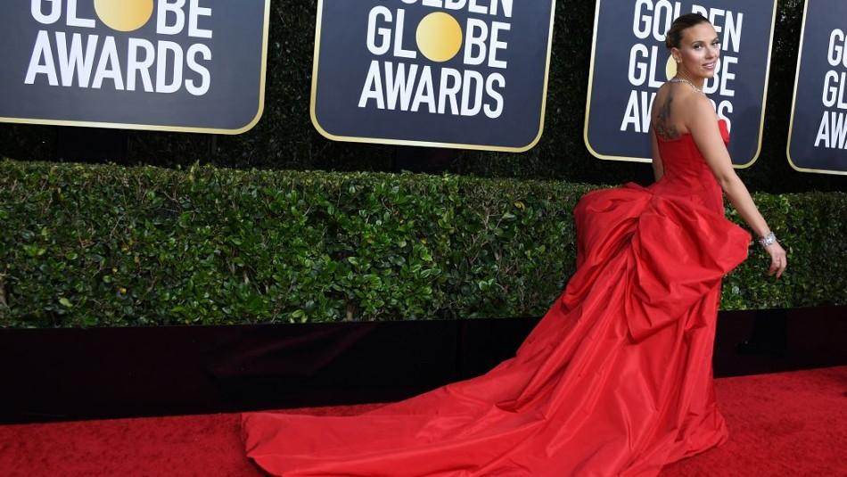 Scarlett Johansson en los Globos de Oro 2020