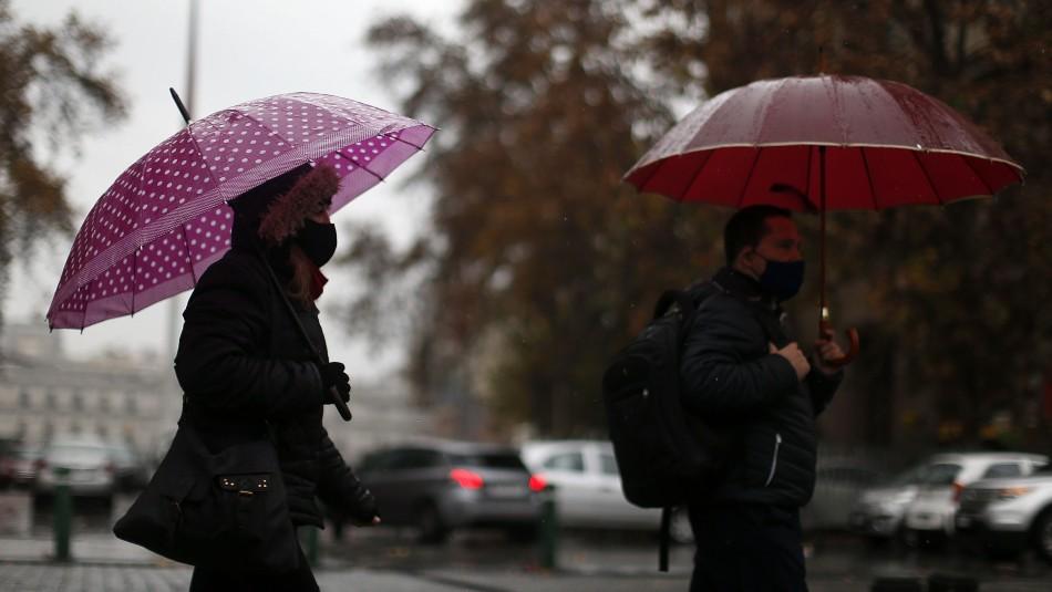 Precipitaciones intermitentes se registrarán este martes y miércoles en Santiago