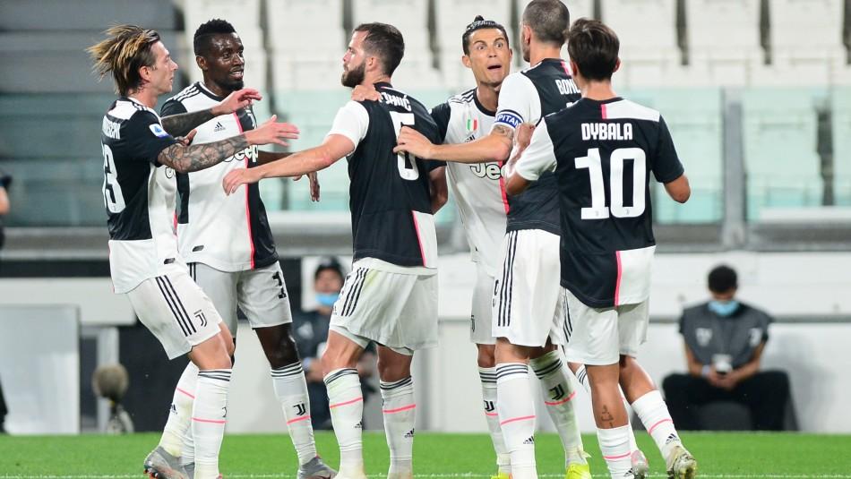 Cristiano Ronaldo celebró con la Juventus.