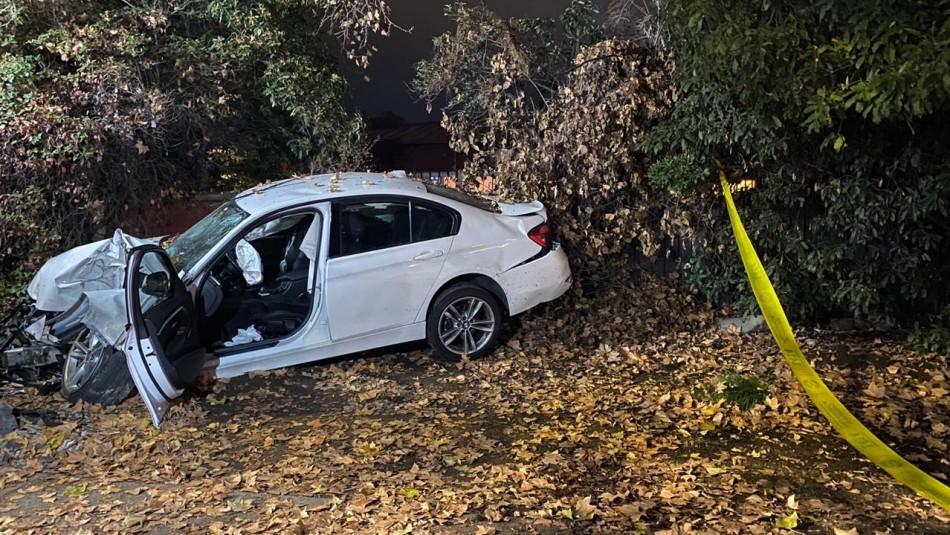 Conductor en estado de ebriedad estrelló su vehículo en casa de la chef Connie Achurra