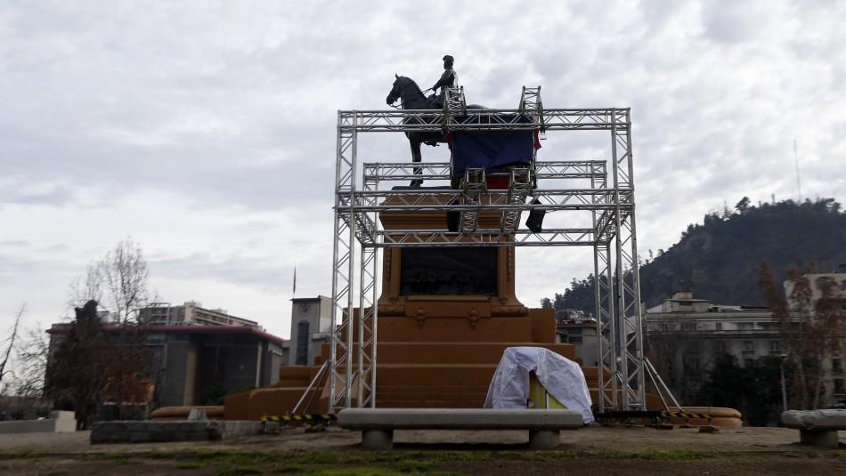 Estructura instalada en Plaza Italia: Intendencia dice que
