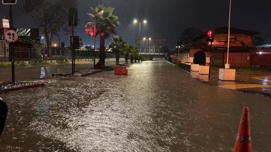Fuertes lluvias provocan inundaciones en la región del Maule
