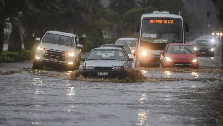 Onemi decreta Alerta Roja para la provincia de Valparaíso por intensas precipitaciones
