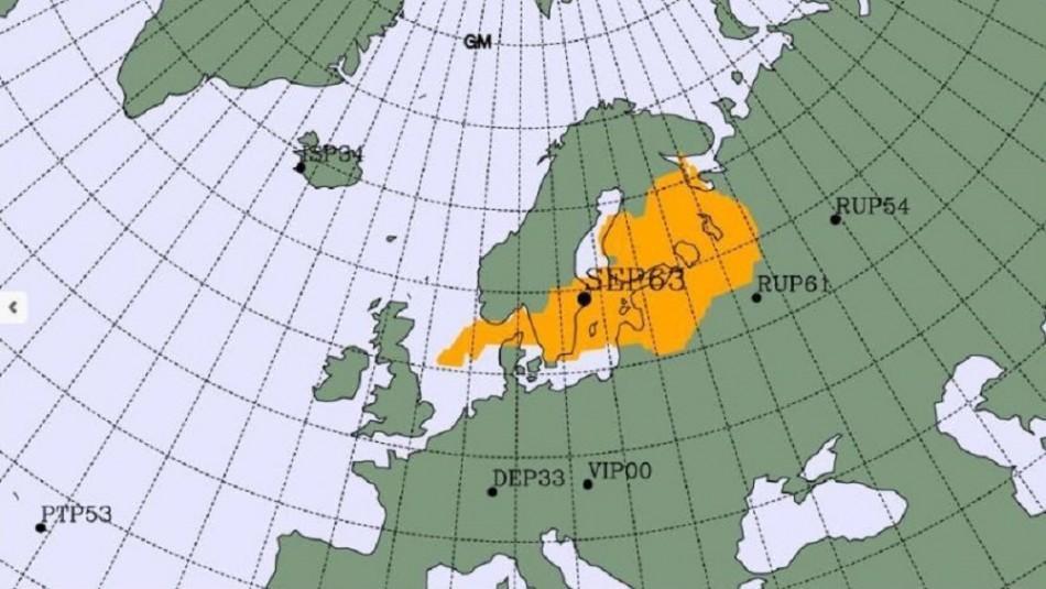 Detectan aumento en niveles de radioactividad de origen humano en el norte de Europa