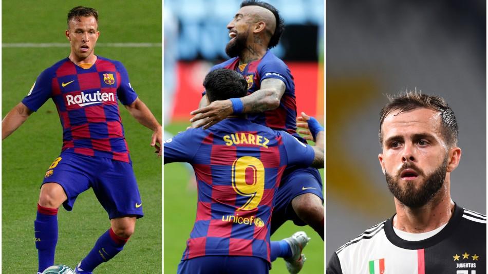 Todo en el sector donde juega Arturo Vidal: Trueque de futbolistas entre el Barcelona y la Juventus