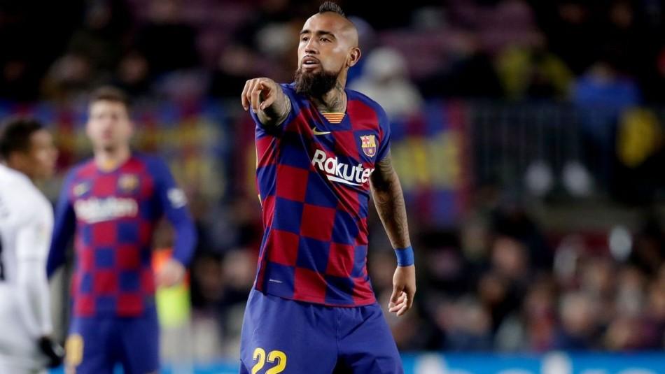 Arturo Vidal busca triunfo con Barcelona.
