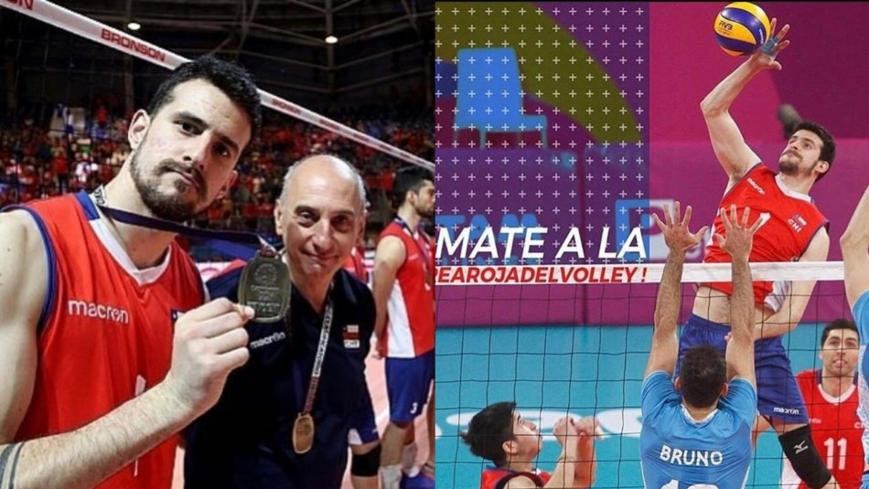 Simón Guerra, el voleibolista chileno que llega al Barcelona.