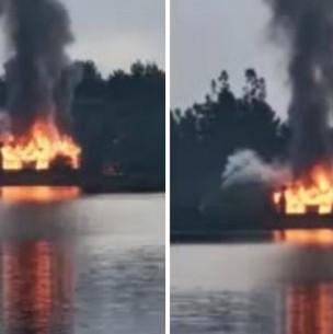 Desconocidos habrían provocado incendio en centro turístico del Lago Lanalhue