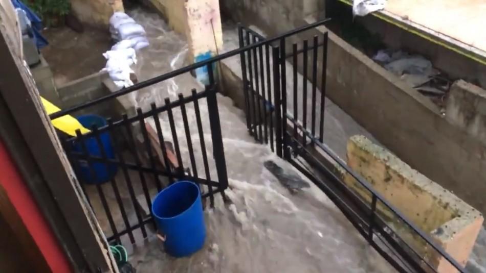 Lluvias en la región de Valparaíso: Reportan anegamiento en restaurante de Concón