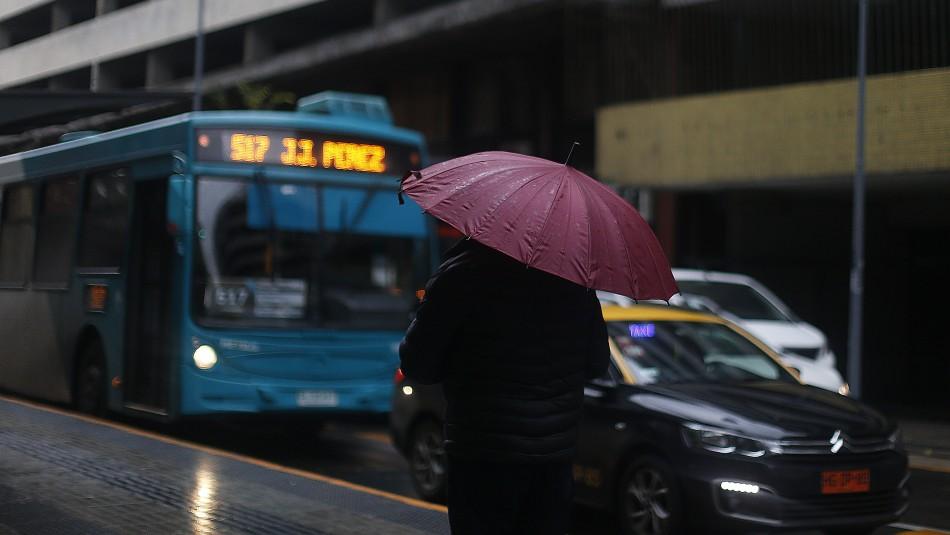 Sistema frontal: Conoce cuánto lloverá este miércoles en Santiago